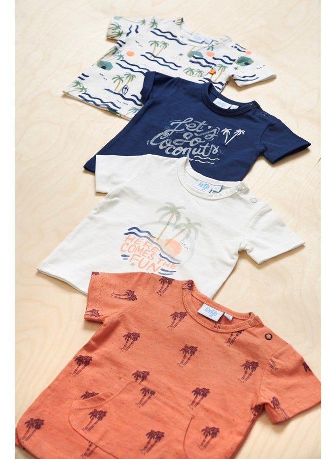 Here Comes The Fun T-shirt AOP Koraal