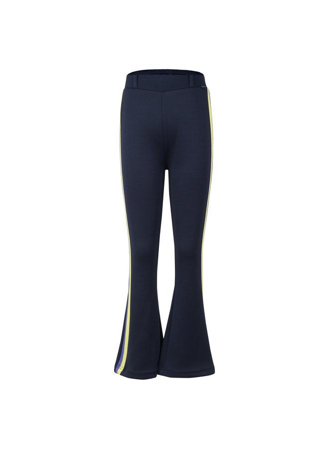 Flair Pants Navy met Zijstreep