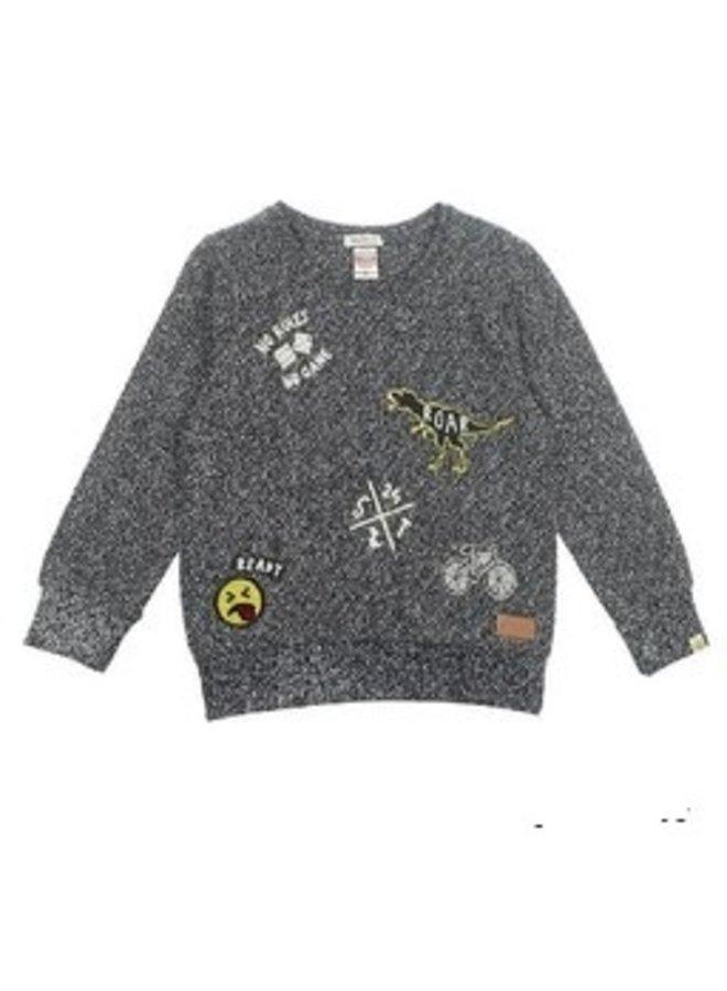Concrete Jungle Sweater Badges  Black