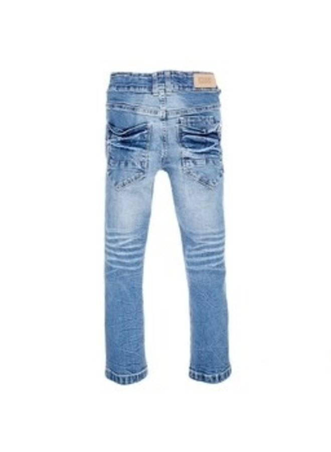 Jeans Power Stretched Bleached Denim