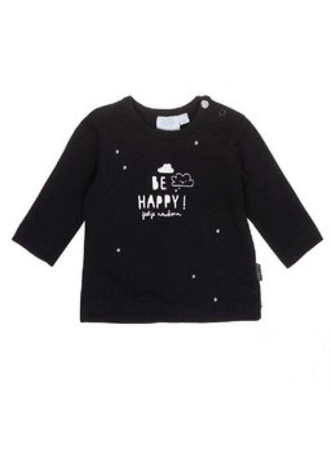 Shirt Zwart Be Happy