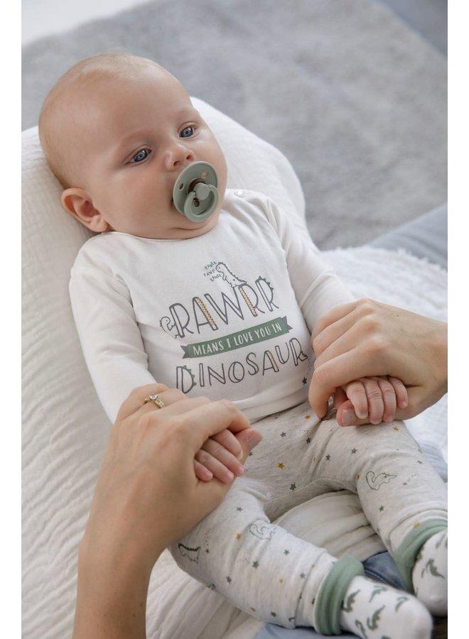 Dinomite Longsleeve Rawrr  Dinosaur Offwhite