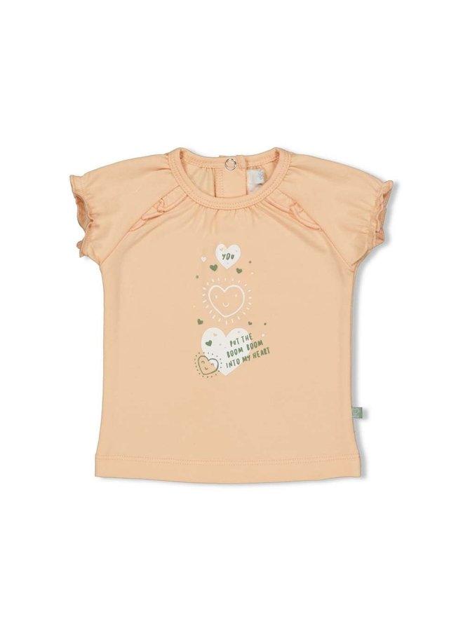 Hearts T-shirt Perzik