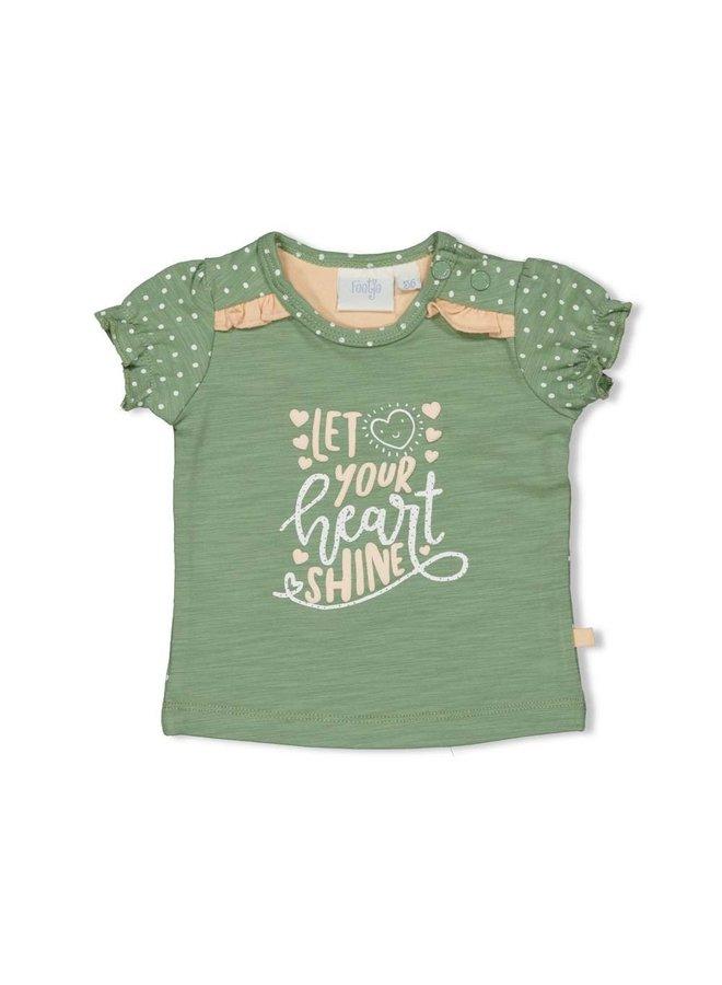 Hearts T-shirt Shine Groen