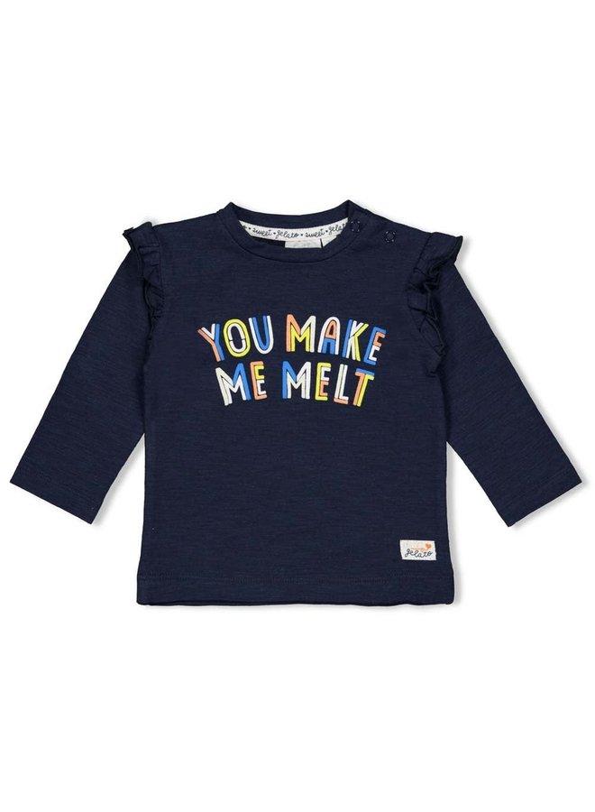 Sweet Gelato Sweater You make me melt Marine
