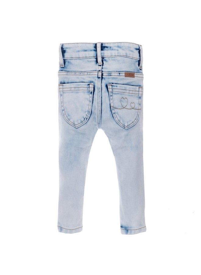 Jeansbroekje  Slimfit Lichtblauw Denim