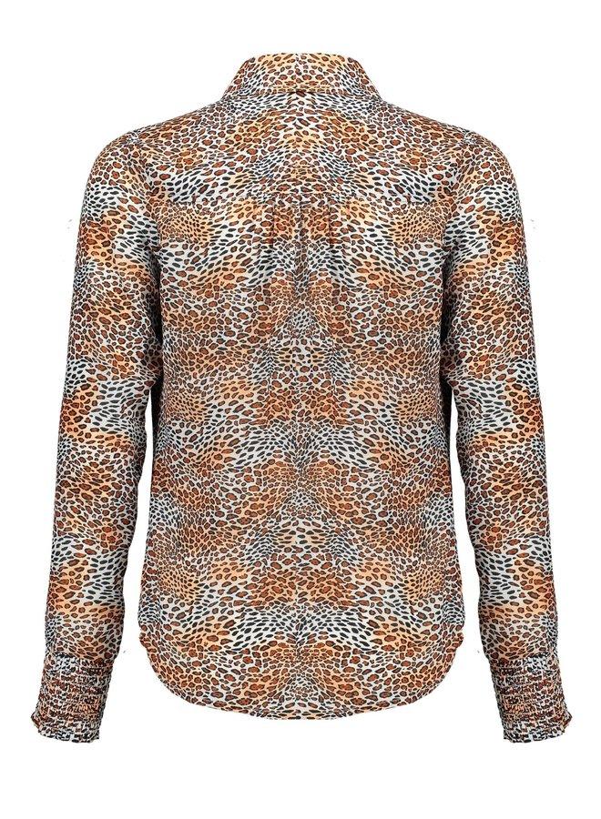 Blouse Tess Leopard Ginger