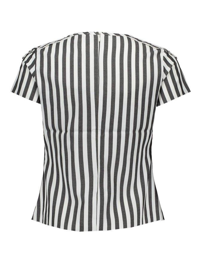 Blouse Stripe en Studs White