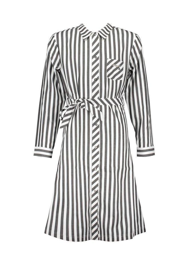 Jurk Vertical Stripe White