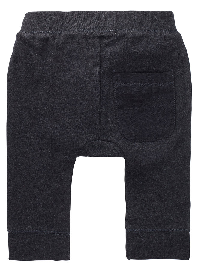 Broek Relaxed Fit Seaton Charcoal Melange