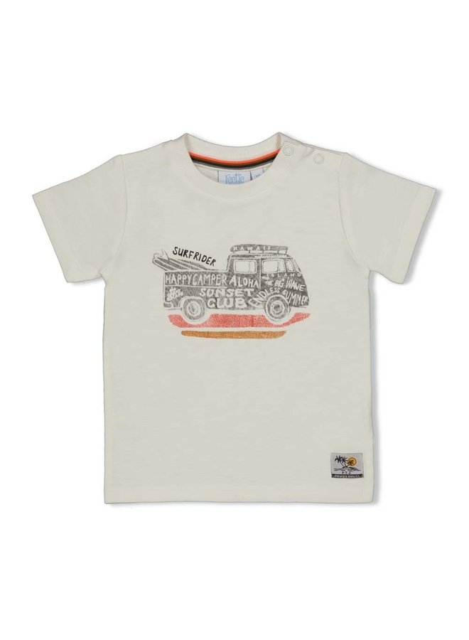 Happy Camper T-shirt Offwhite