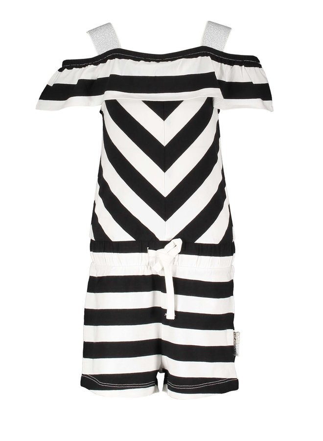 Jumpsuit Cheer Black/White