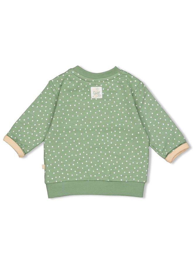 Hearts Sweater AOP Groen