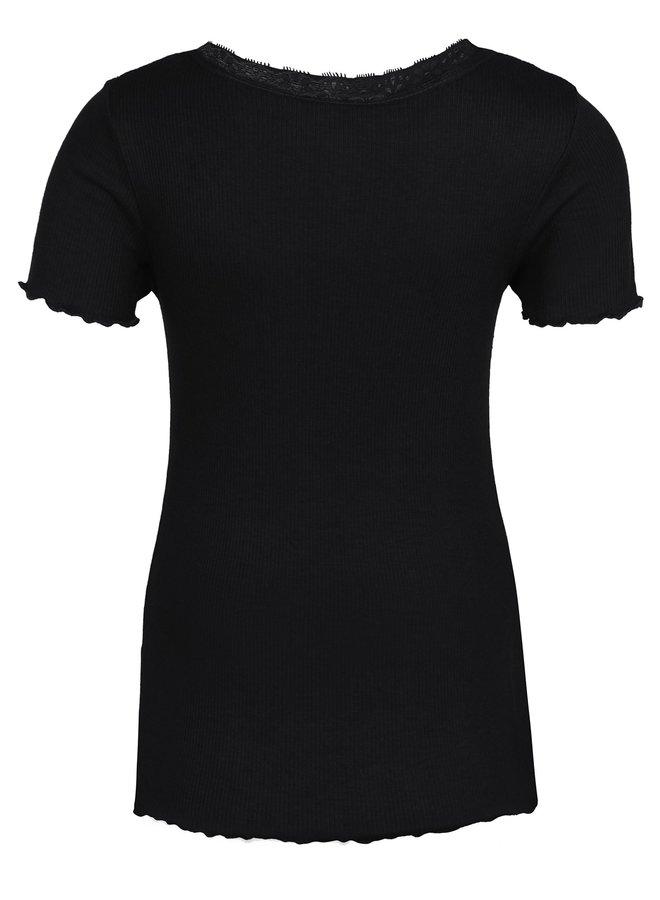 Shirt met Kantje Zwart