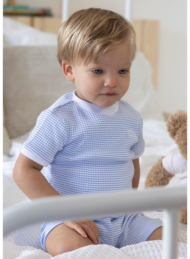 Pyjama Kort Blue
