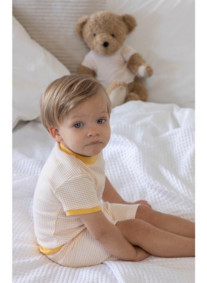 Pyjama Kort Okergeel