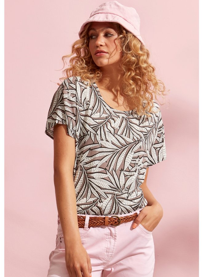 Blouse Leaves Taupe