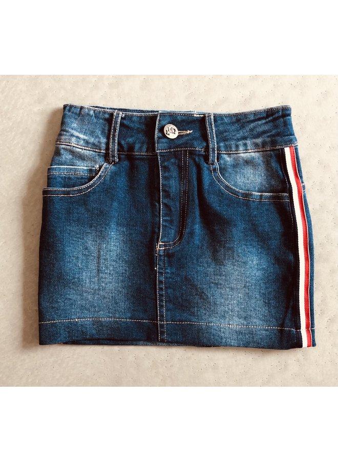 Jeans Rok met Zijstreep