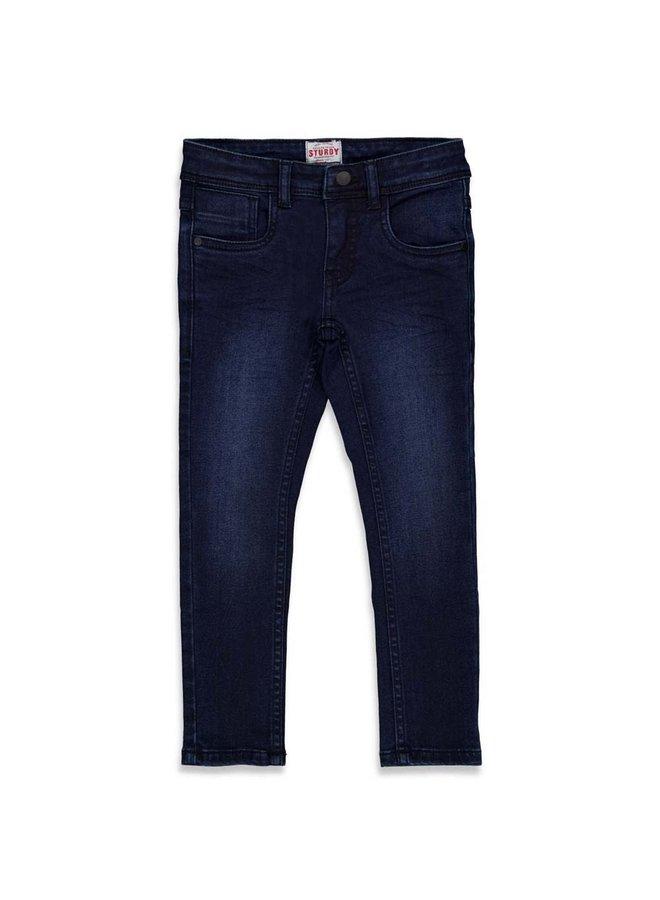 Jeans Slim Fit Donkerblauw Denim