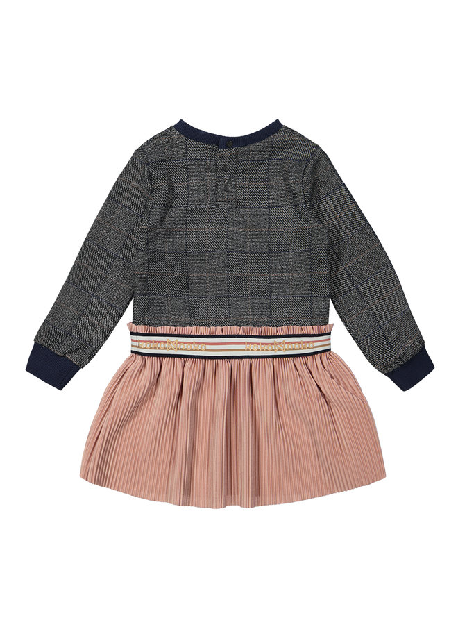 Jurk Grey/Soft Pink