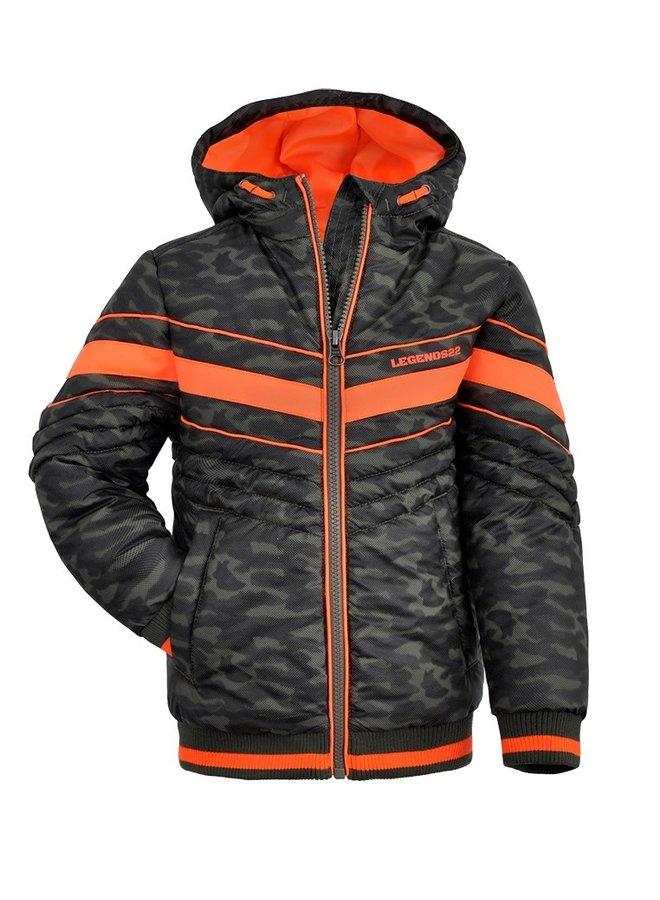 Winterjas Groen/Oranje