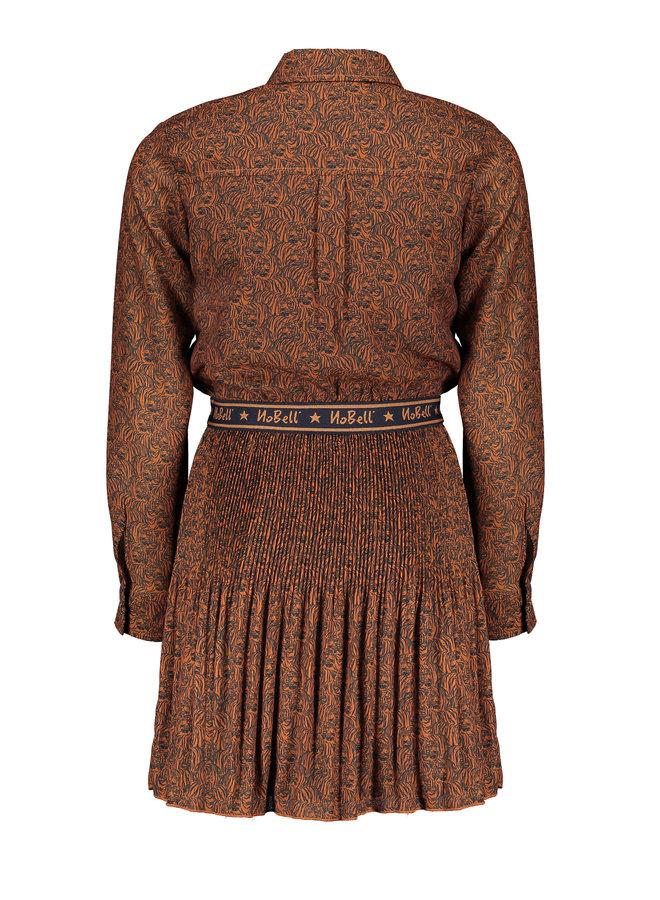 Jurk Miane met plisse rok  Cinnamon