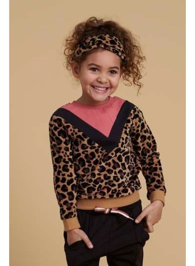 Forever Wild Sweater Print Geel