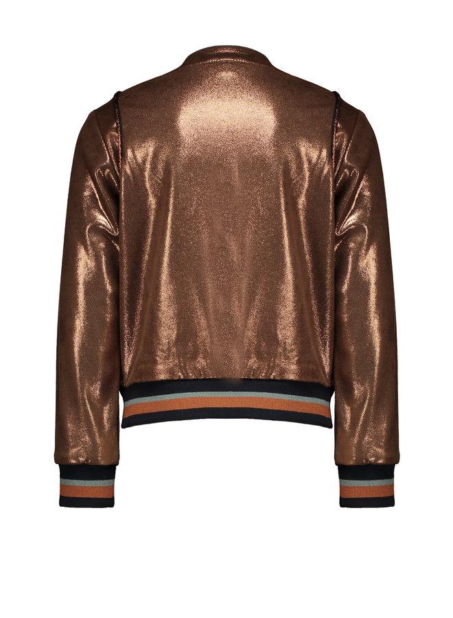 Baseball Bomber Vest Suedine Warm Copper