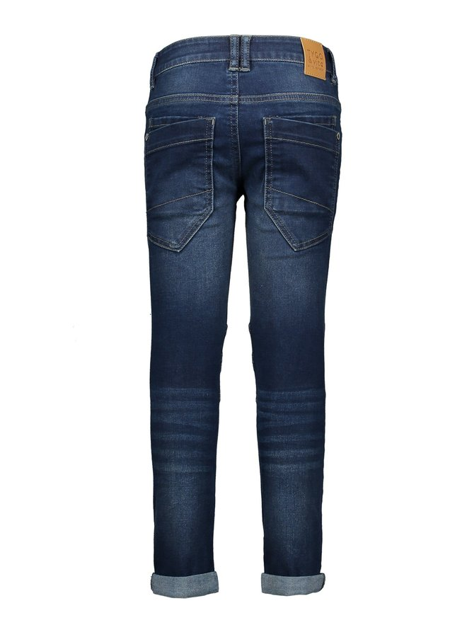 Skinny Jeans Double Kneepatches Bark blue