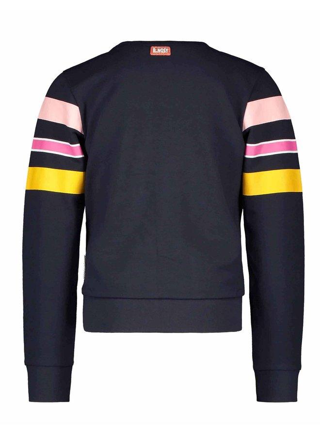 Sweater Streep Ink Blue