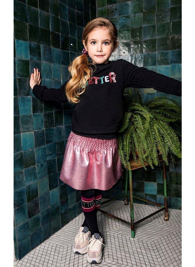 Girls coated skirt with smocked wasitband