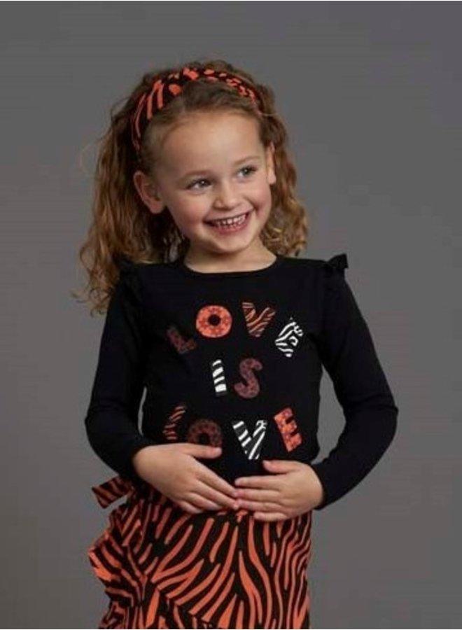 Blushing Zebra Longsleeve Love is Love Zwart