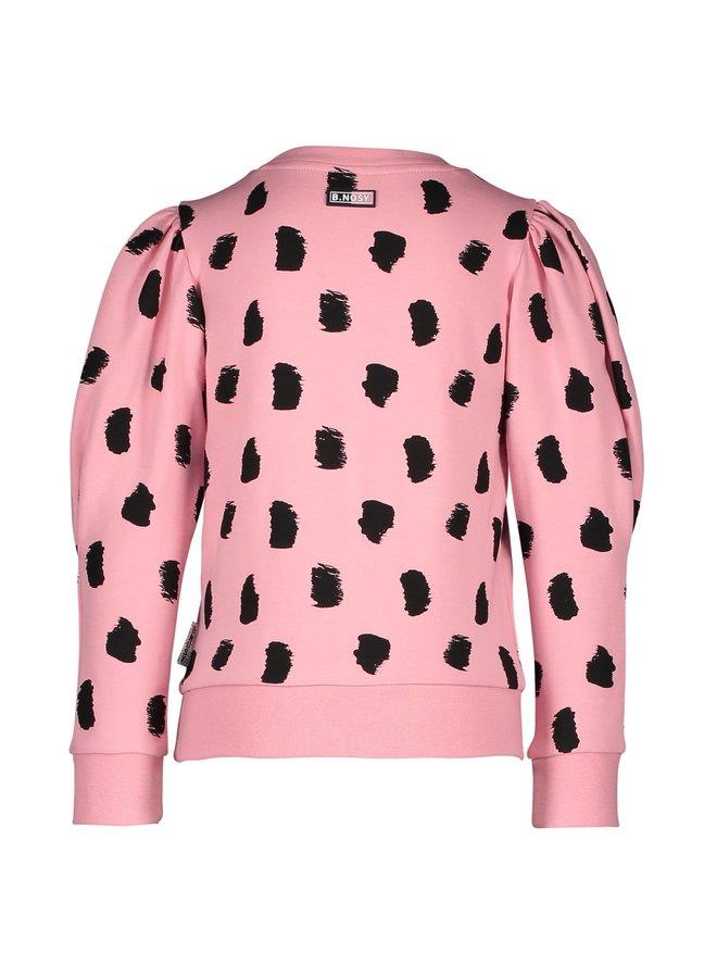 Sweater Roze met Print Zwart