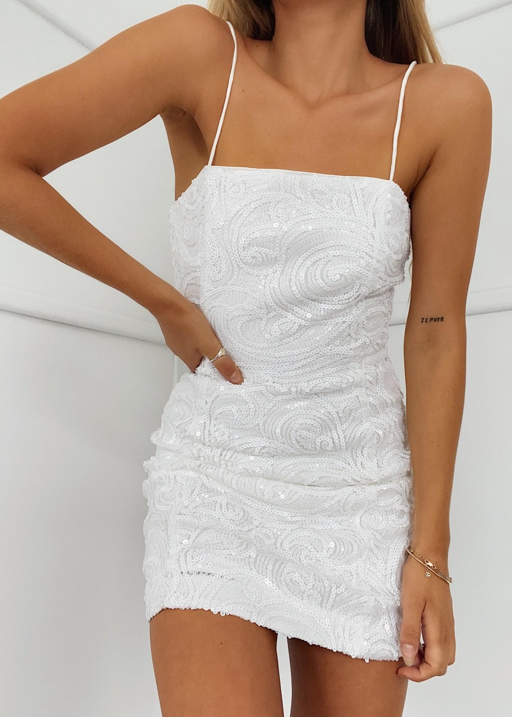 Runaway The Label White Ivy Dress