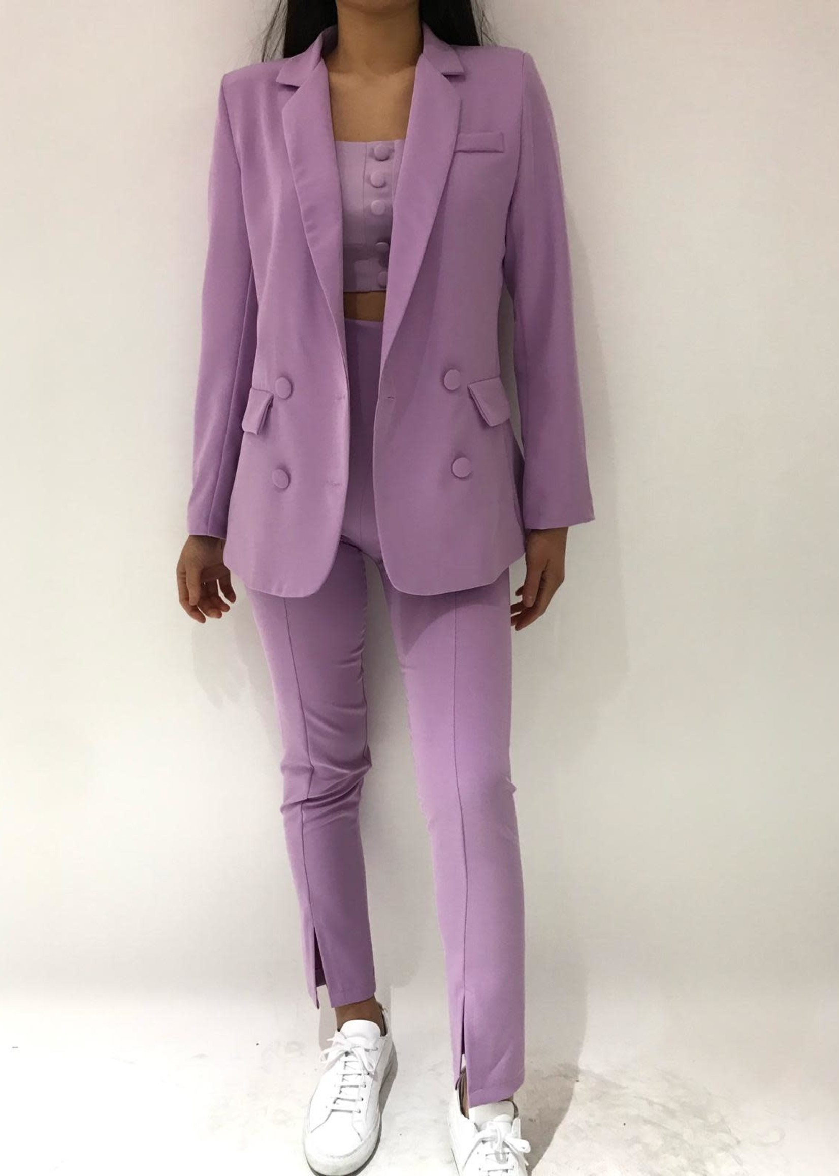 Eight Paris Skinny Dressed Pants Lilac