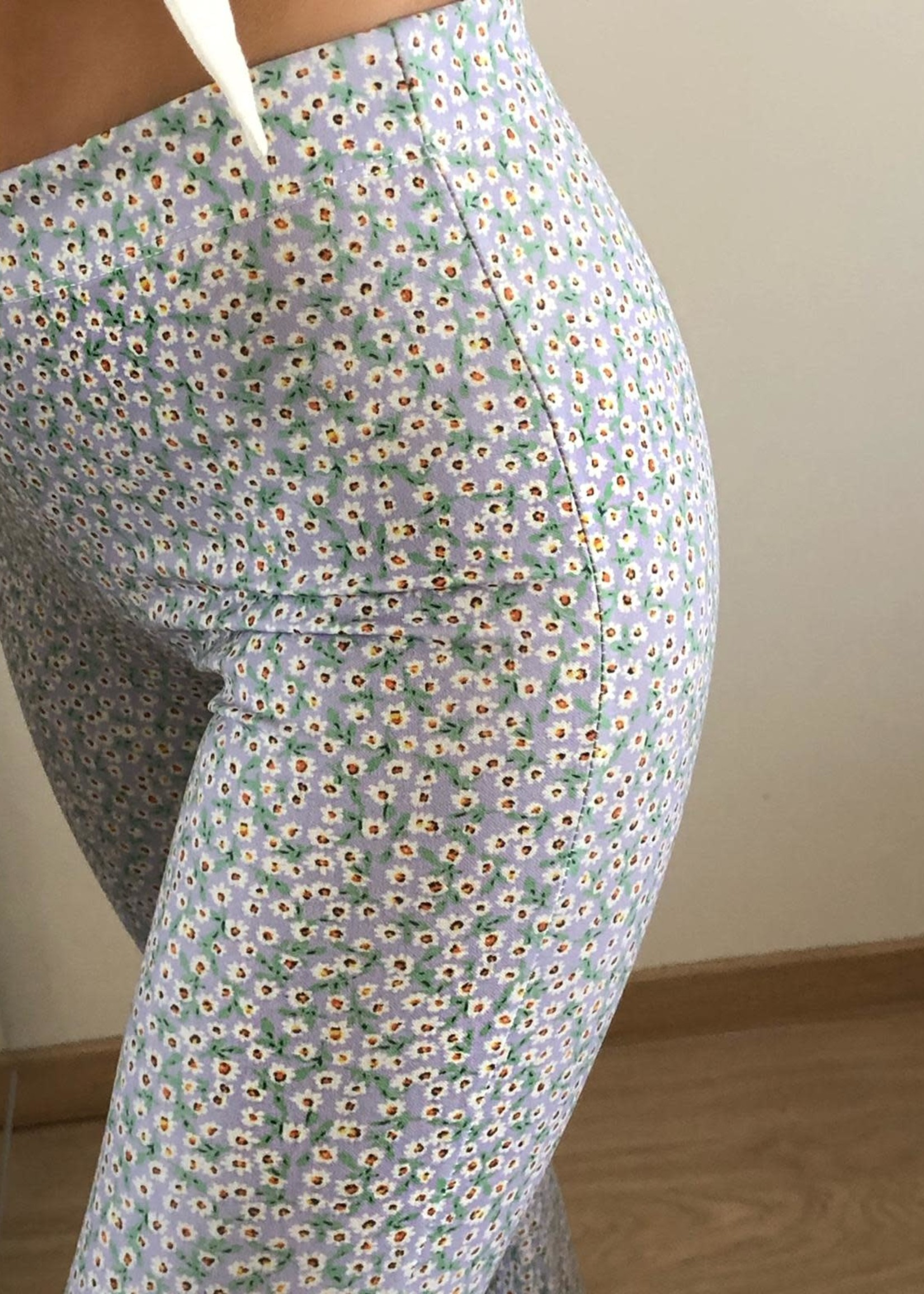 Flair Stretch Pants Flowers