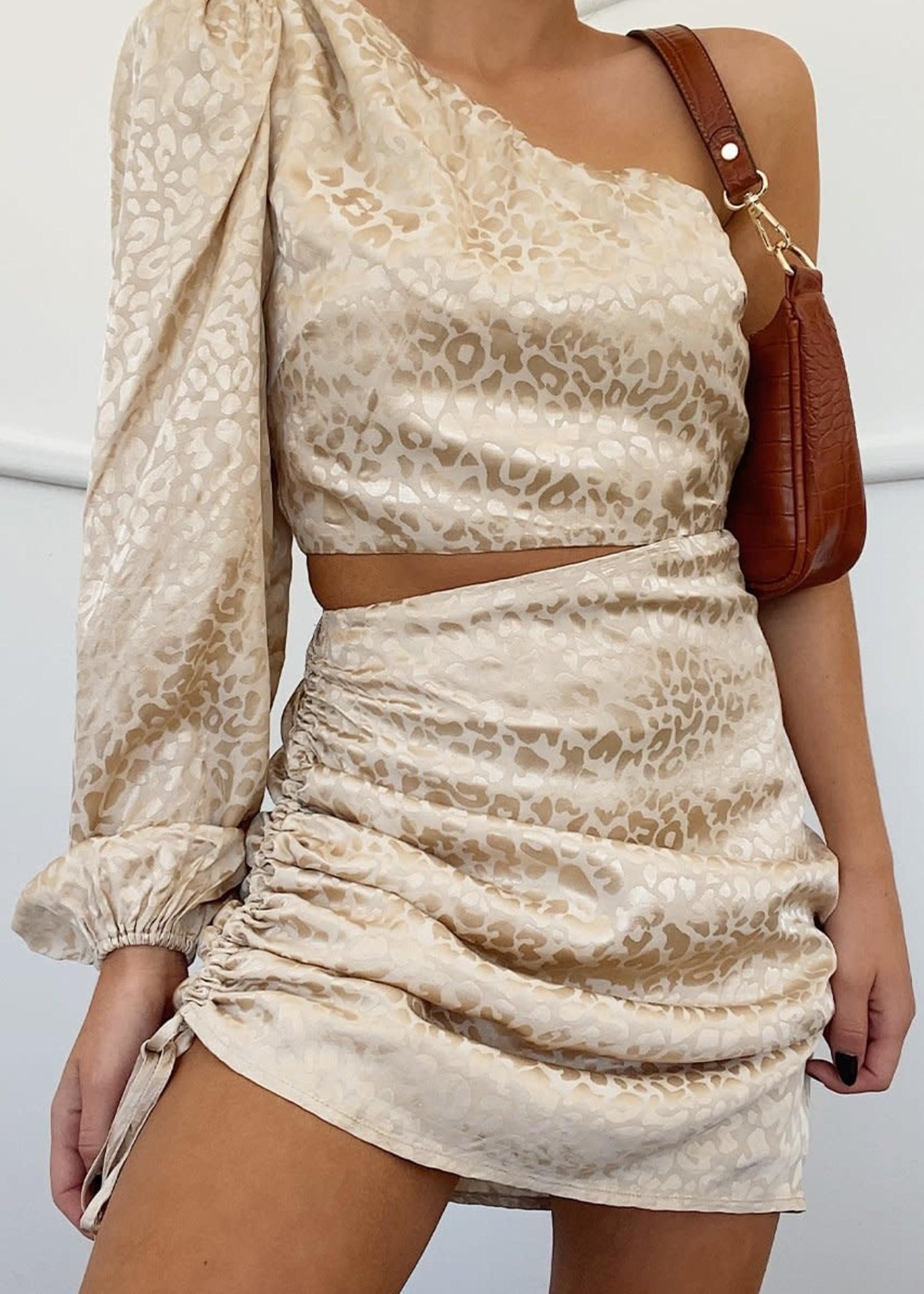 Alisa mini dress gold