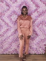 Satijnachtige bloes pink
