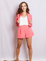 Cropped blazer pink