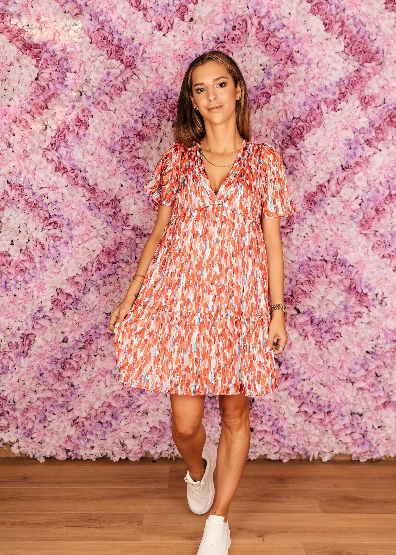 Ycoo smudge jurk