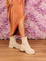Beige stretchboots