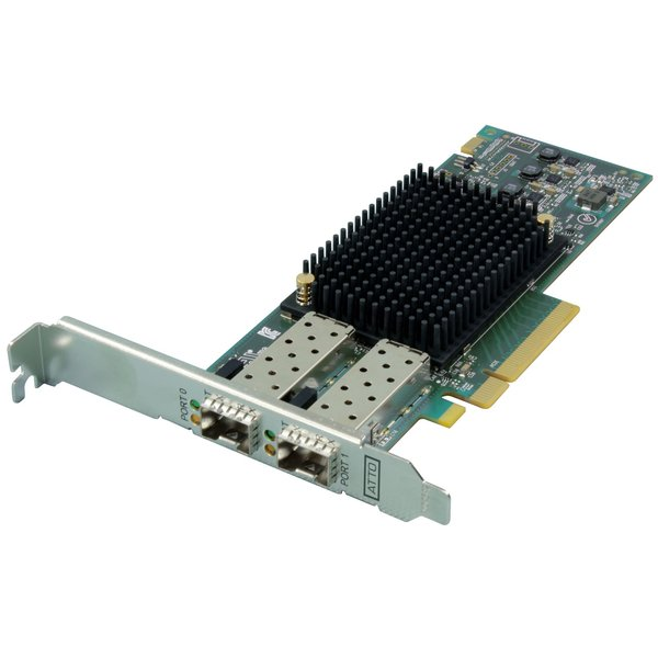 Atto Atto Celerity FC-162P - Dual-Channel 16Gb/s Gen 6 Fibre Channel PCIe 3.0 Host Bus Adapter ( includes SFPs )
