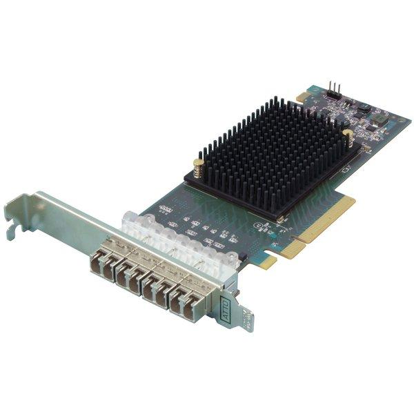 Atto Atto Celerity FC-164P - Quad-Channel 16Gb/s Gen 6 Fibre Channel PCIe 3.0 Host Bus Adapter ( includes SFFs )
