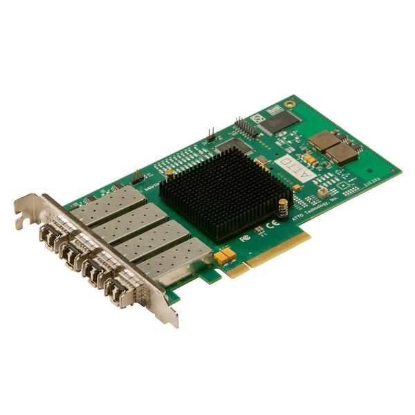 Atto Atto Celerity FC-84EN - Quad-Channel 8Gb/s Fibre Channel PCIe 2.0 Host Bus Adapter. ( includes SFPs )