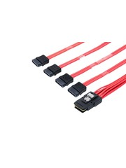 Atto Atto SAS Cable, Internal SFF-8087 to (4) x1 SATA - 0.5 Meter