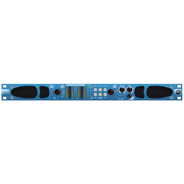 Sonifex Sonifex RM-4C8 - Reference Monitor, 4 LED Meters, 8 Channel Inputs & Dual Source Selectors
