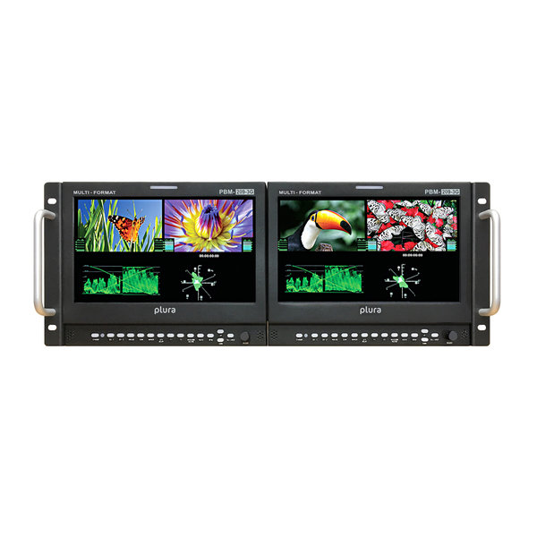 "Plura Plura PBM-209 DRK-3G Dual 9"" Rack-mountable monitor"