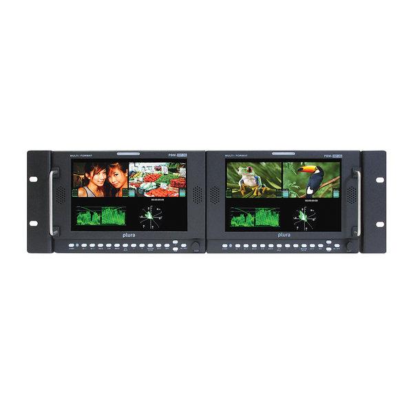 "Plura Plura PBM-307DRK-3G Dual 7"" Rack-mountable monitor"