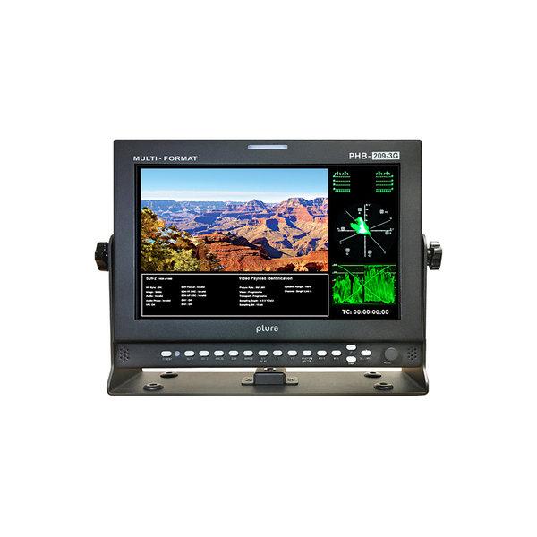 "Plura Plura PHB-209-3G 9"" monitor consists of high brightness, high quality portable LCD panel"