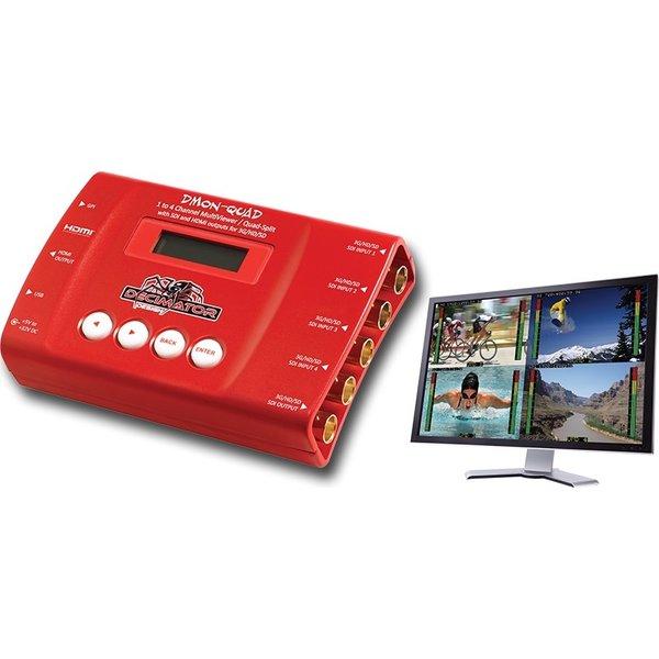 Decimator Decimator DMON-QUAD 4 x (3G/HD/SD)-SDI to HDMI